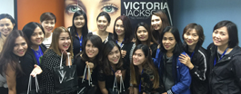 Make-up class with Victoria Jackson